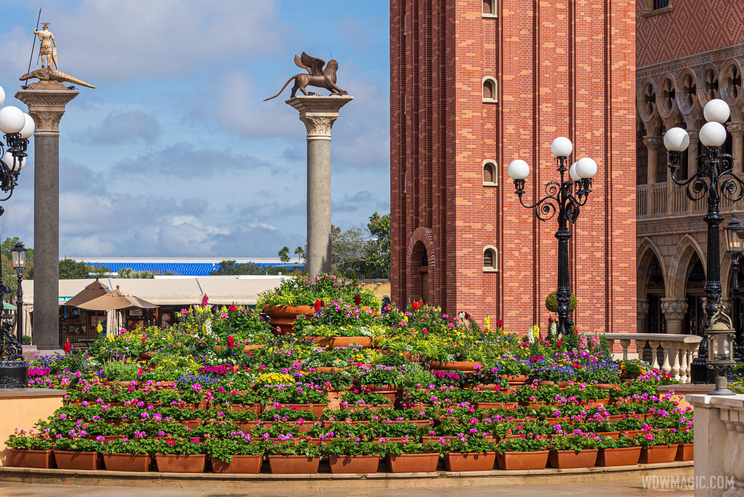 Italy Pavilion flowers - February 2021