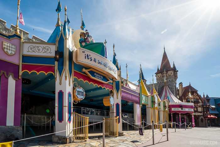 it's a small world queue refurbishment completed