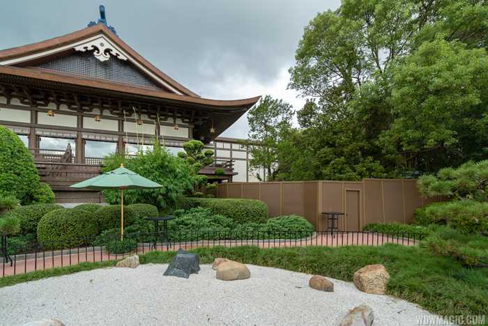 New restaurant construction at the Japan Pavilion