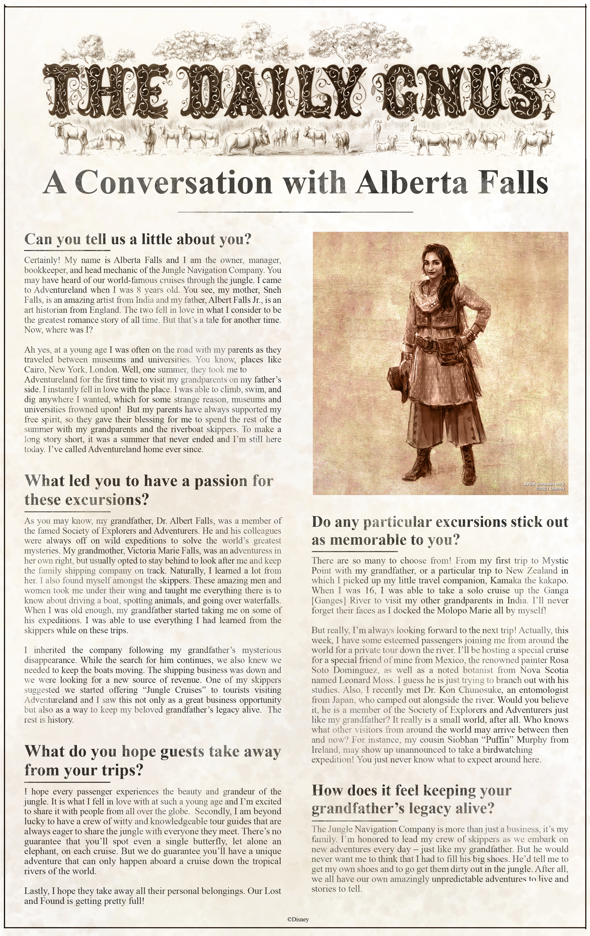 A conversation with Alberta Falls