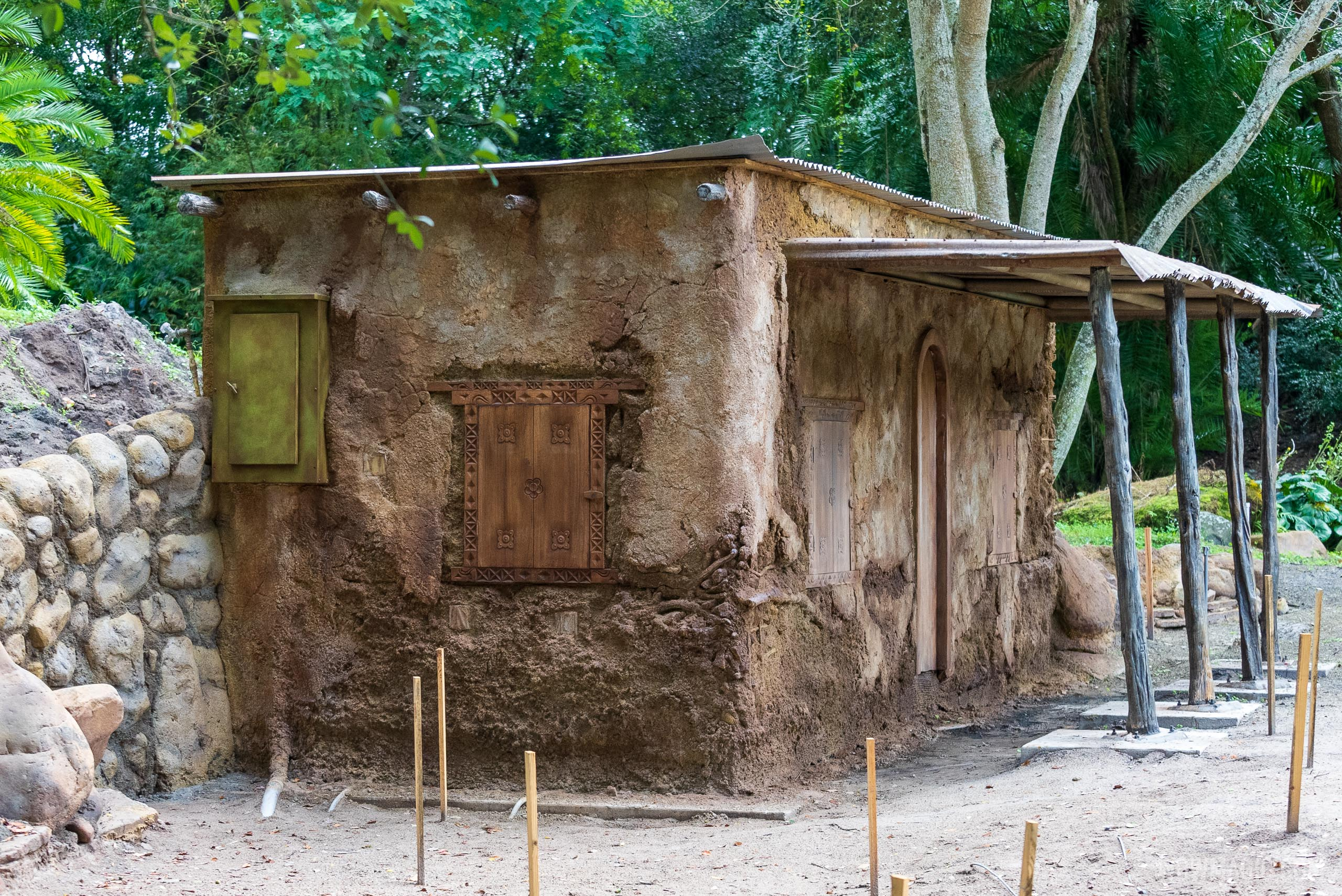 New building construction at Kilimanjaro Safaris - October 26 2020