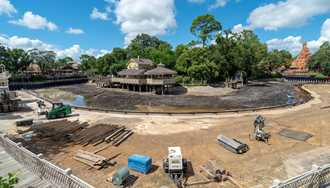 PHOTOS - Latest look at the Rivers of America refurbishment