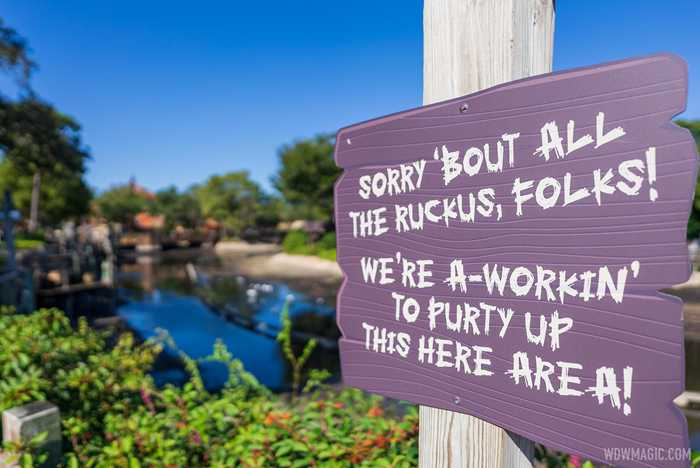 Rivers of America drained - November 2 2020