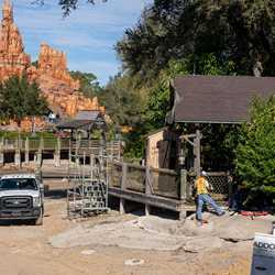 Rivers of America refurbishment - January 4 2021