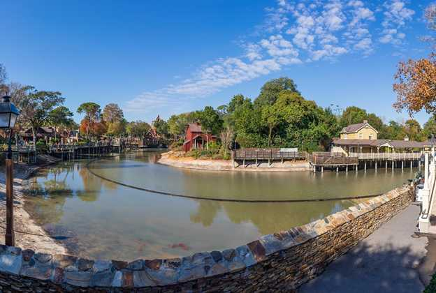 Rivers of America refurbishment - January 22 2021