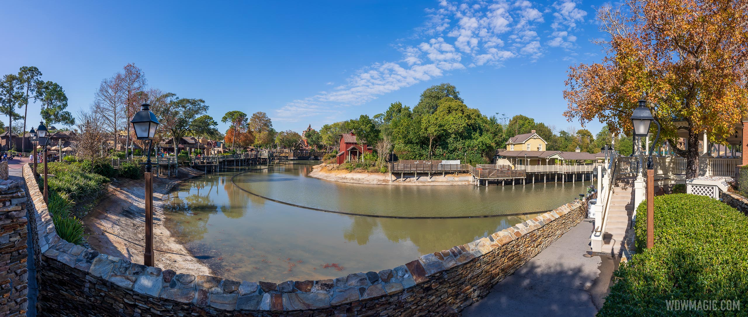 Refilling the Rivers of America has been underway for the last week