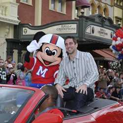 Super Bowl XLV Most Valuable Player Aaron Rodgers motorcade