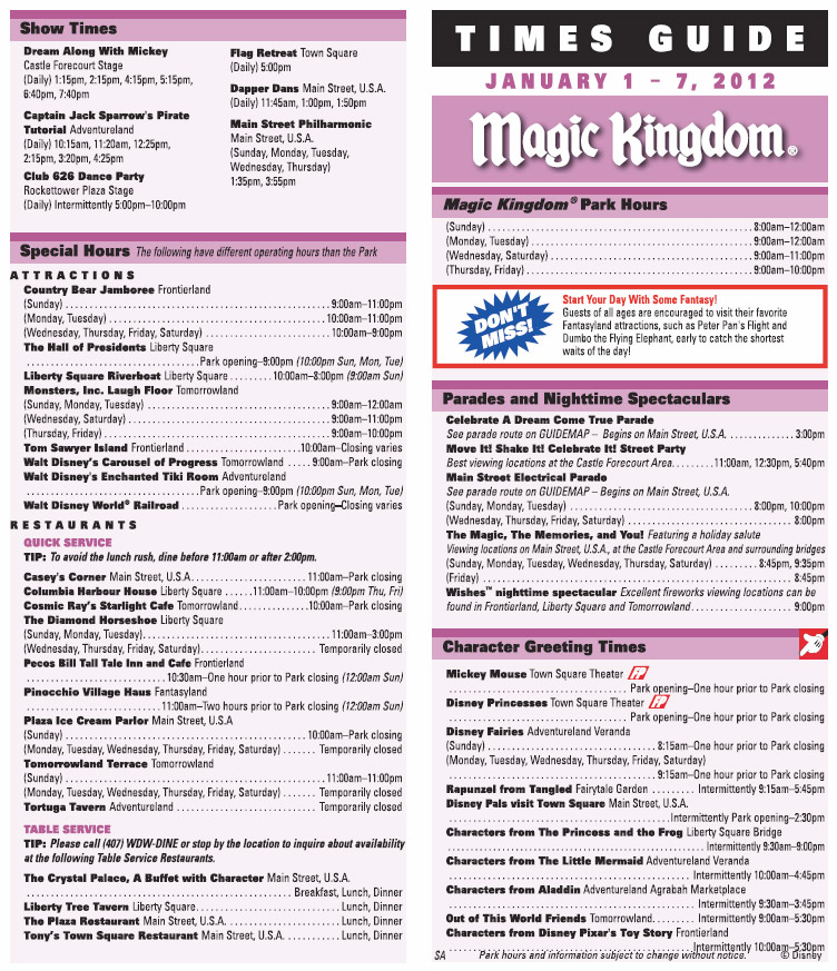 New Times Guide format