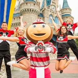 Ohio State University mascot Brutus Buckeye at the Magic Kingdom