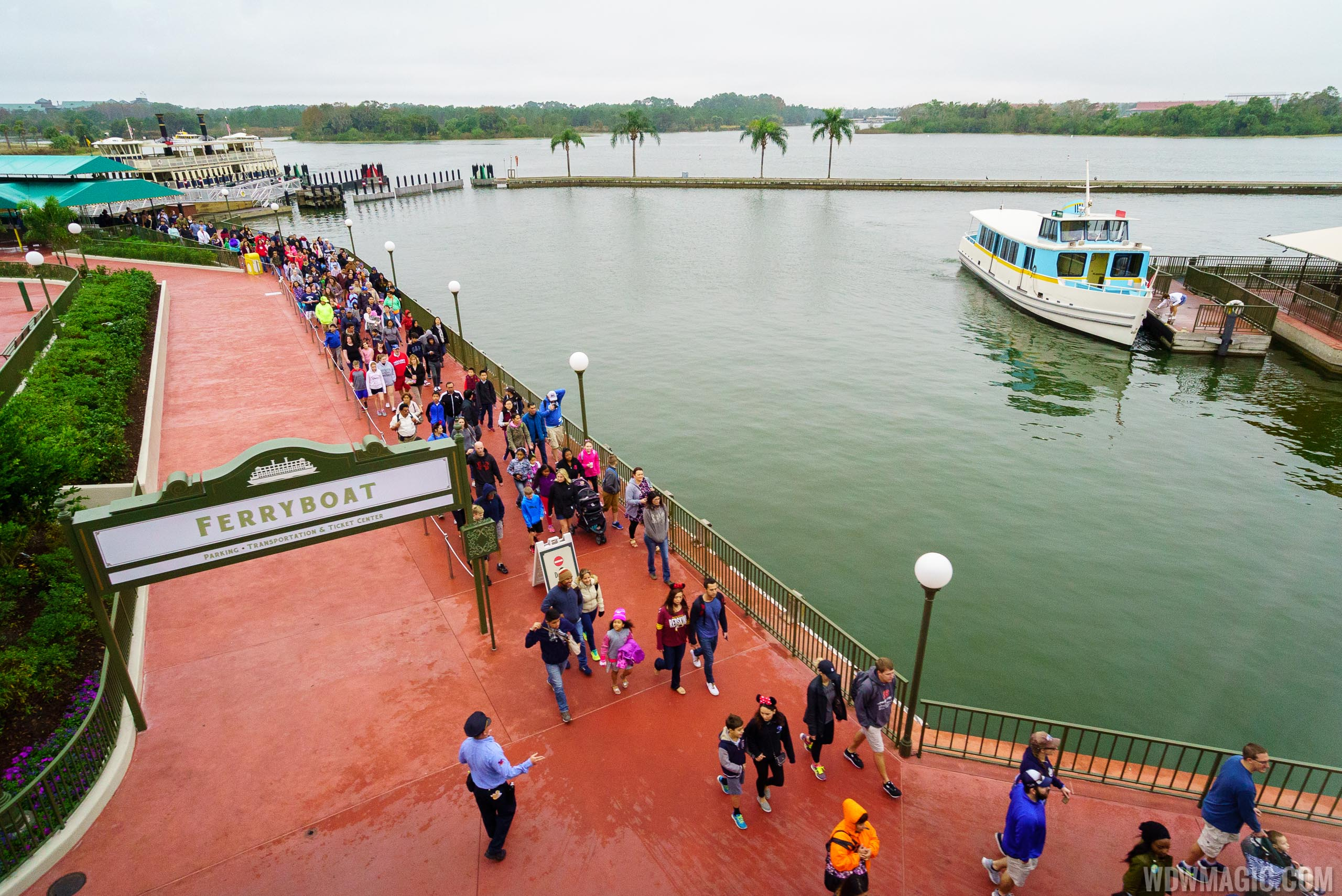 New Magic Kingdom Ferry dock area