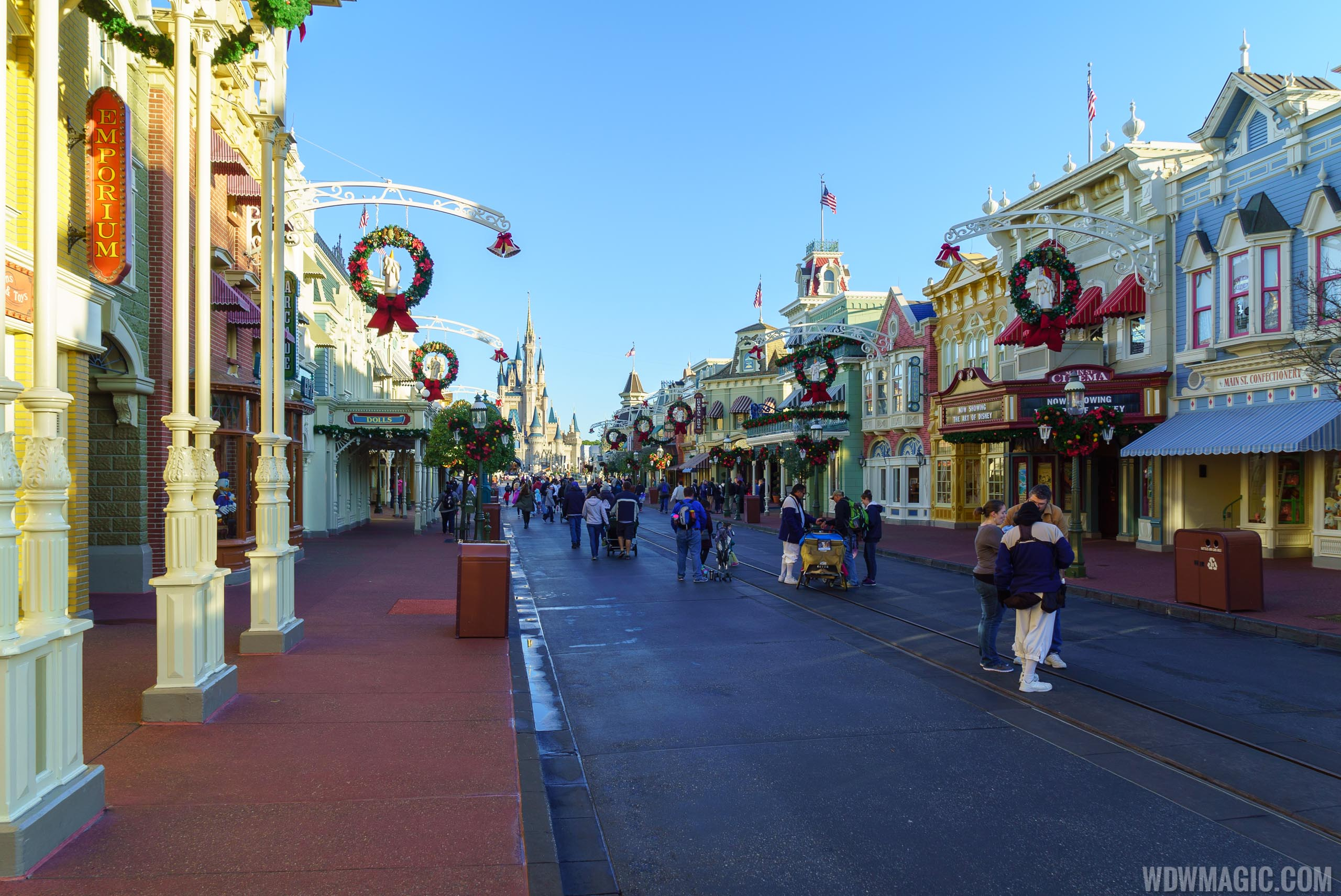 Main Street U.S.A. before rope drop