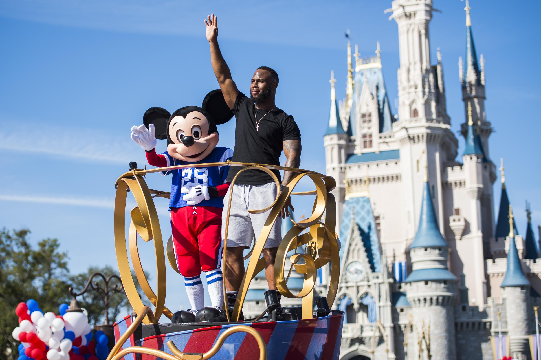 James White in Super Bowl parade at the Magic Kingdom