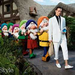 GQ Style magazine menswear fashion shoot at Walt Disney World Resort