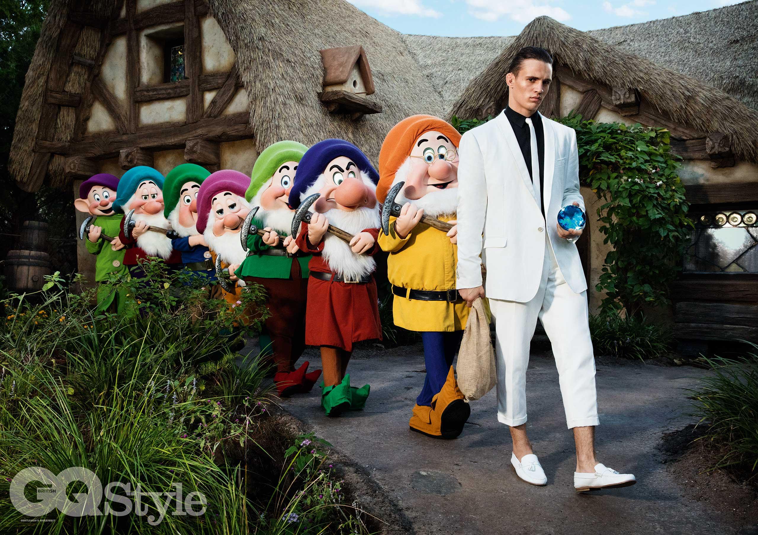 GQ Style magazine menswear fashion shoot at Walt Disney World Resort