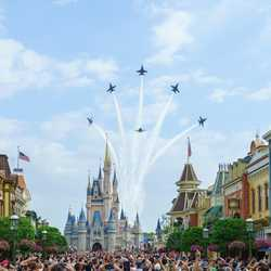 Blue Angels Flyover the Magic Kingdom