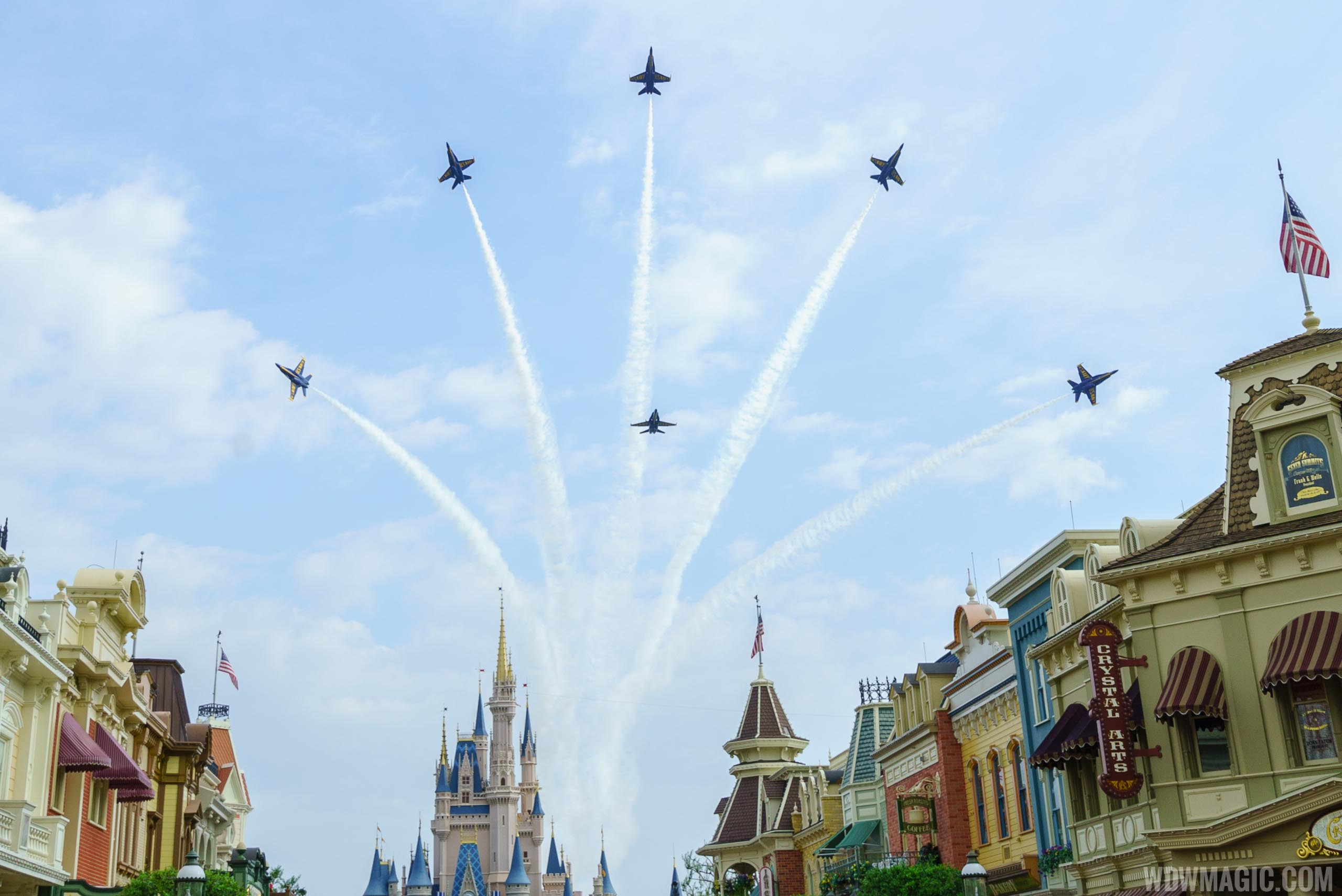 Blue Angels Delta Break over Cinderella Castle