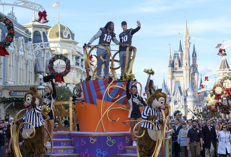 UCF Knights Football Team Celebrated in Parade at Walt Disney World Resort