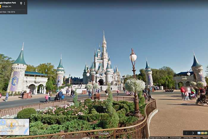 Google Maps Street View of Magic Kingdom