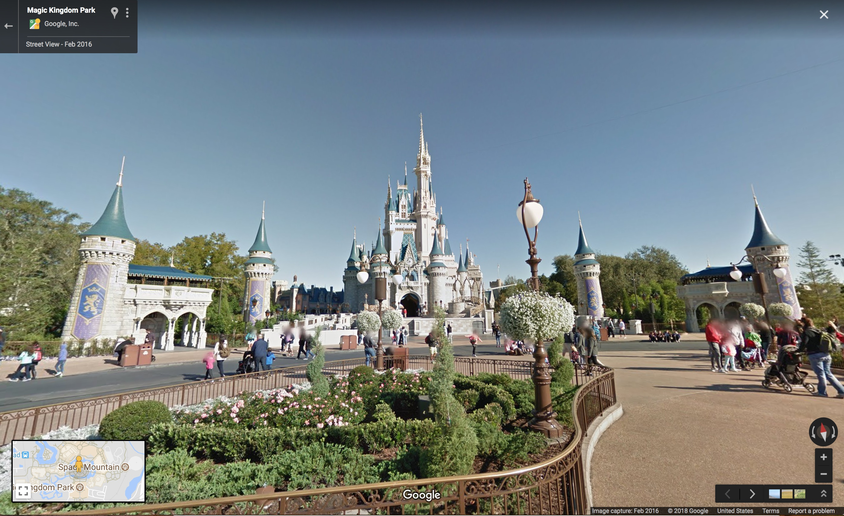 Disney Parks come to Google Maps Street View on