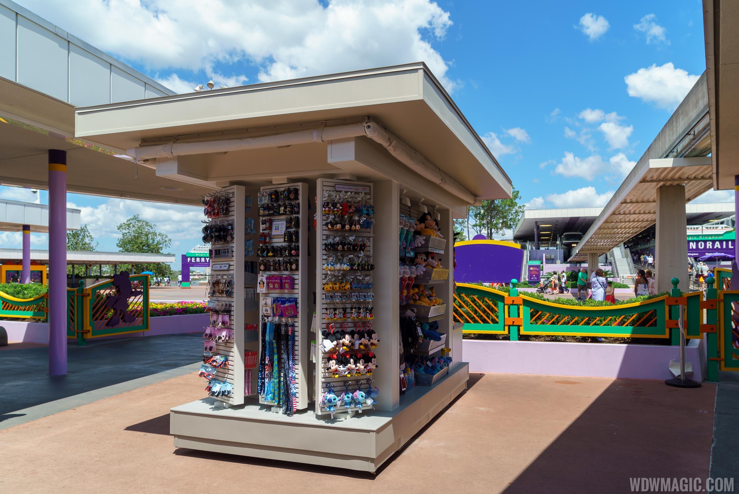 New merchandise kiosk at the TTC