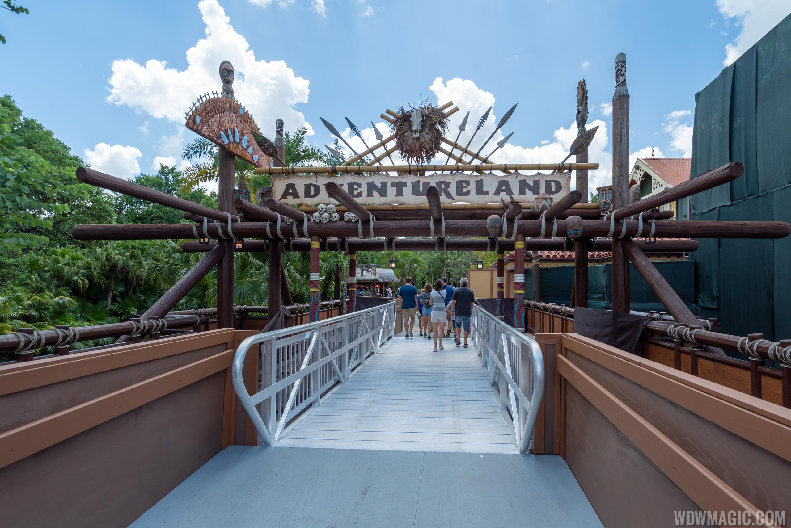Club 33 location and bridge under construction in Adventureland at the Magic Kingdom