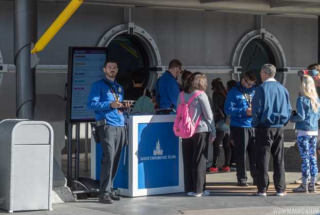 Guest Experience Team station in Tomorrowland
