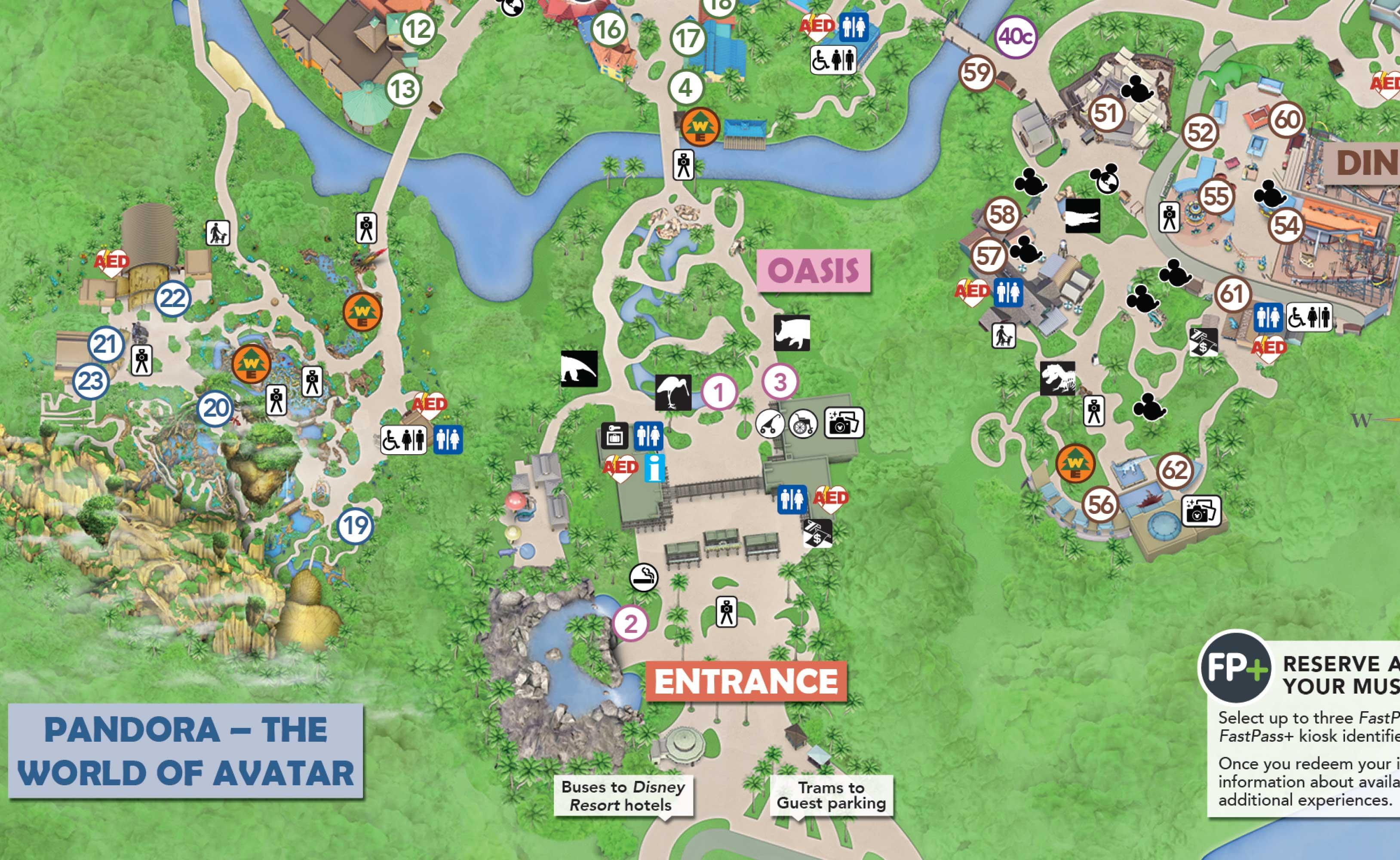Walt Disney World theme park smoking locations - May 1 2019 - Photo