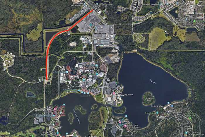 Floridan Place extension road