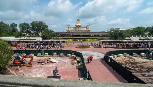 PHOTOS - Construction update from the main entrance of the Magic Kingdom