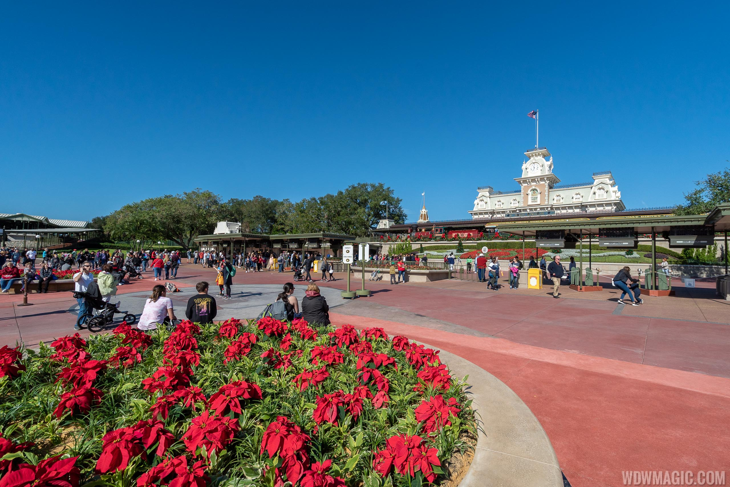 Magic Kingdom main entrance area construction - December 2019