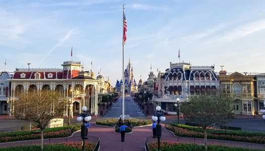 VIDEO - Disney Security Cast Members continue to raise the flag each and every morning at Magic Kingdom during the park's coronavirus closure