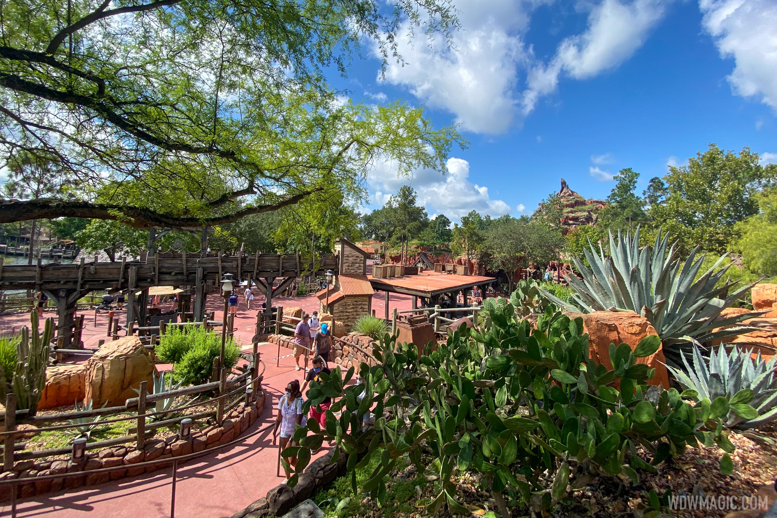 Frontierland viewed from Big Thunder Mountain