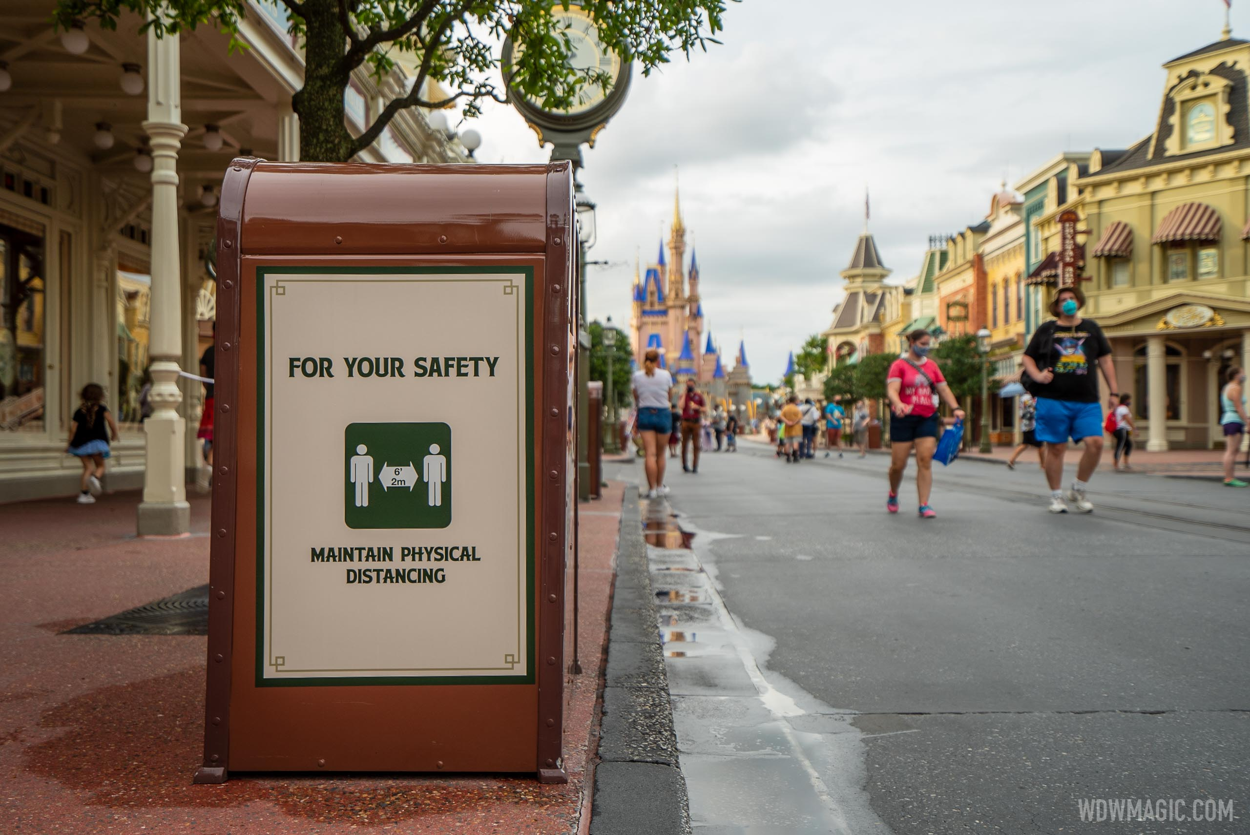 Health and Safety signage for COVID-19 at the Magic Kingdom