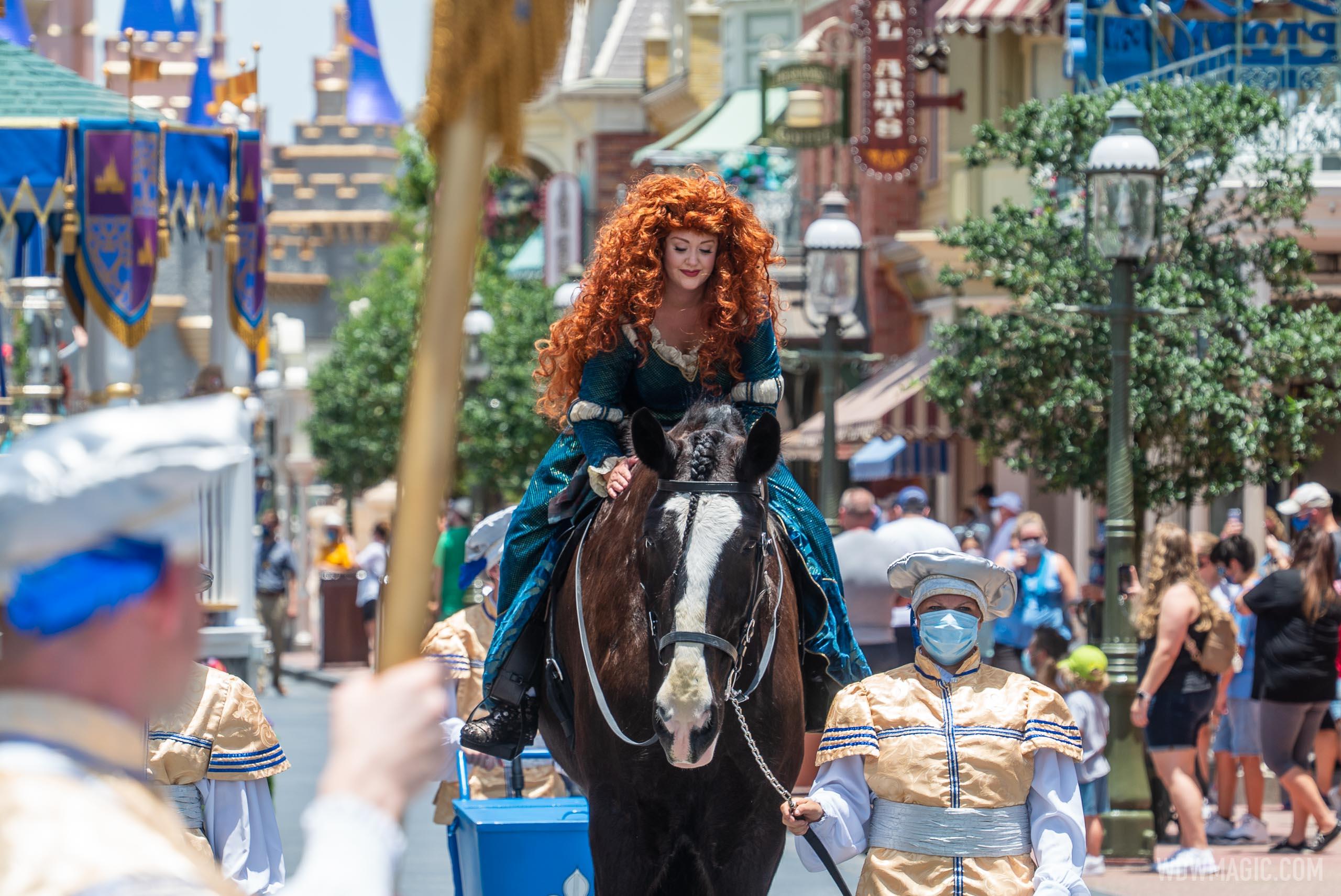 Merida in the Princess cavalcade