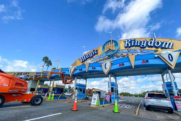 Magic Kingdom auto-plaza refurbishment - October 12 2020
