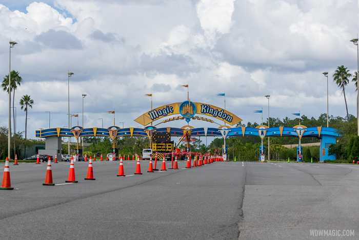 Magic Kingdom auto-plaza refurbishment - October 22 2020
