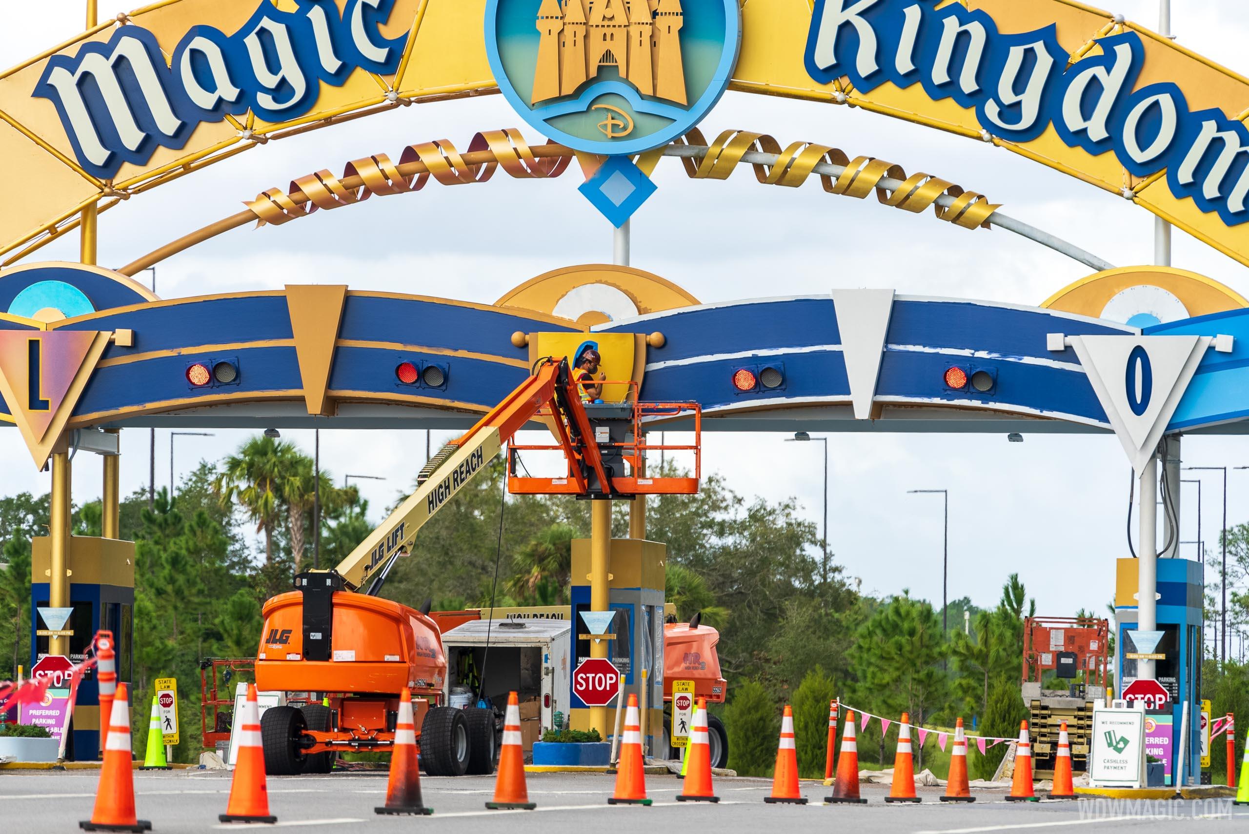 Magic Kingdom auto-plaza refurbishment - October 22 2020