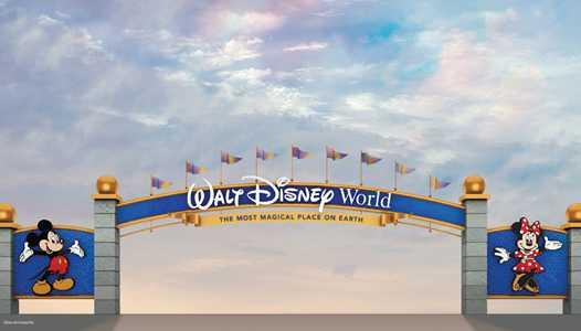 PHOTO - New Cinderella Castle inspired color scheme also coming to the Walt Disney World roadway gateways