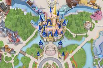 PHOTOS - My Disney Experience digital map update for Magic Kingdom includes new-look castle and Grand Floridian walkway
