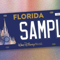 Walt Disney World license plate design