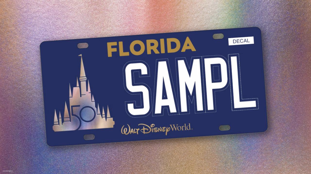 Walt Disney World license plate design