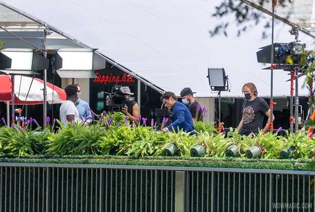 John Stamos filming for American Idol