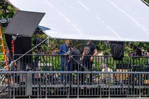 John Stamos at Magic Kingdom as part of filming for American Idol Disney Night