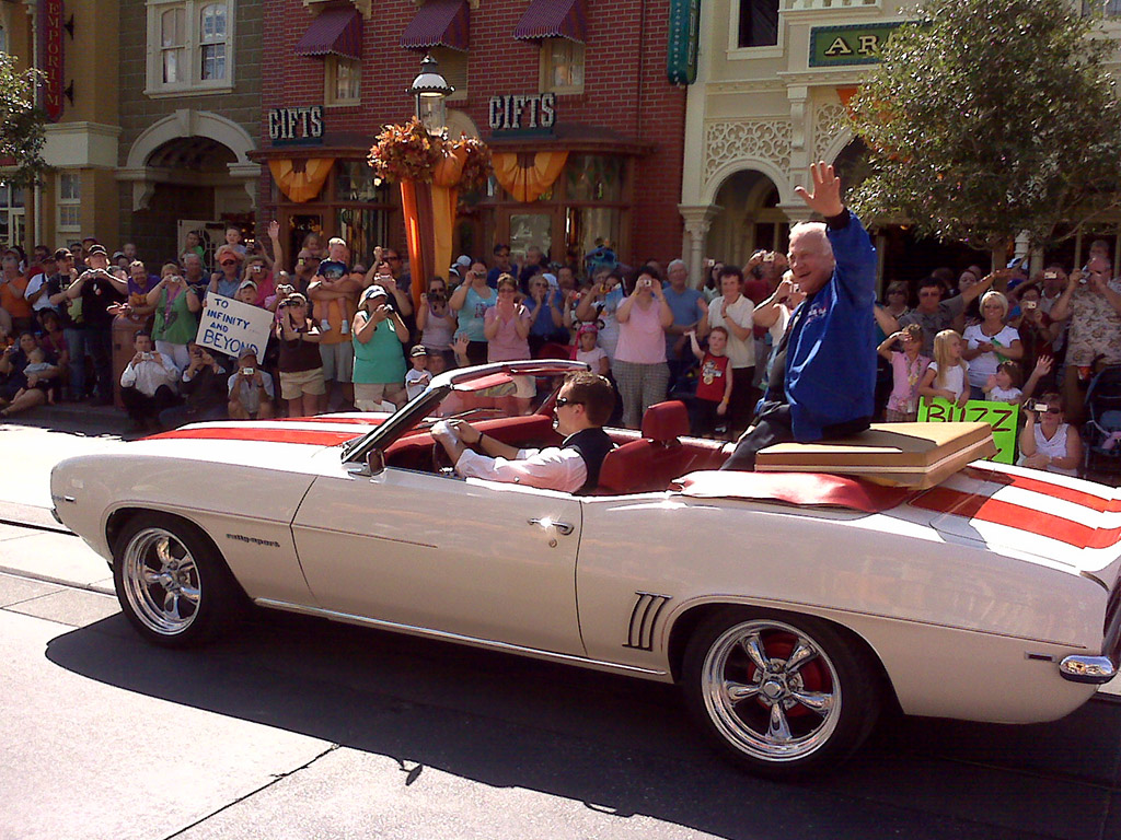 Buzz Aldrin at the Magic Kingdom
