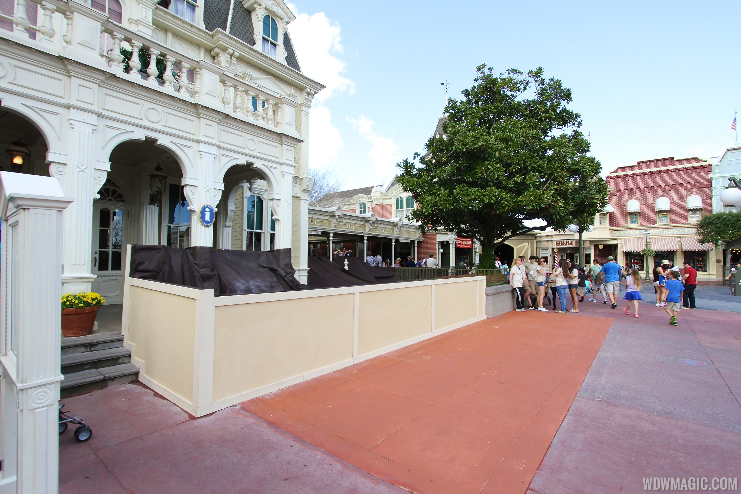 Main Street U.S.A concrete replacement at City Hall