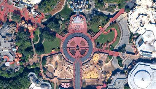 PHOTO - Aerial view of the Magic Kingdom hub redevelopment project