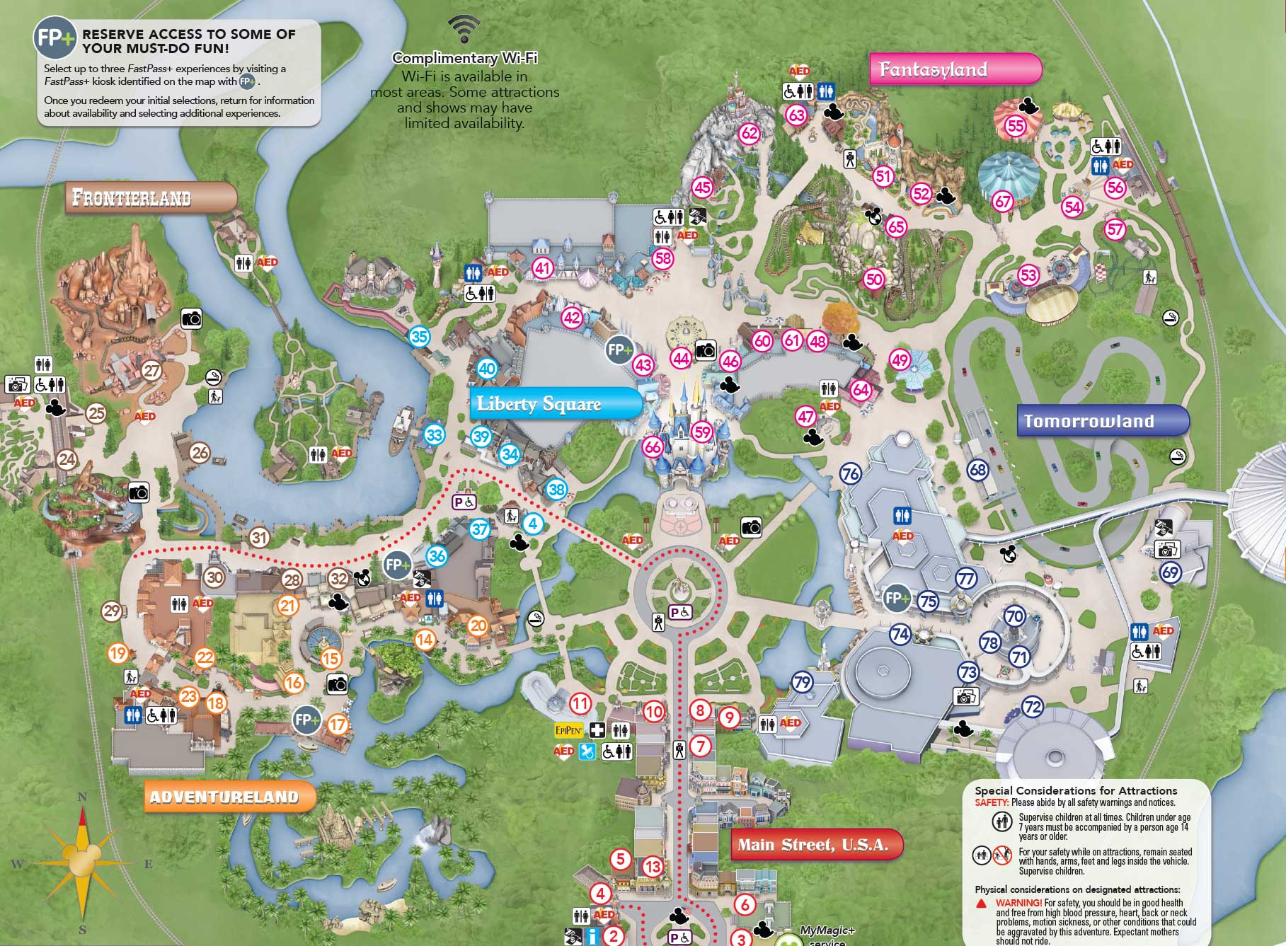New magic kingdom guide map shows new plaza gardens photo 2 of 2 gumiabroncs Choice Image