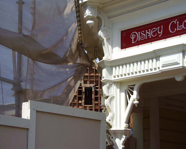 Main Street Emporium construction concept art and construction photos