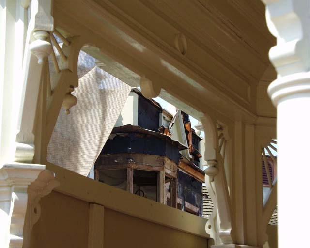 Main Street Emporium construction concept art and construction photos