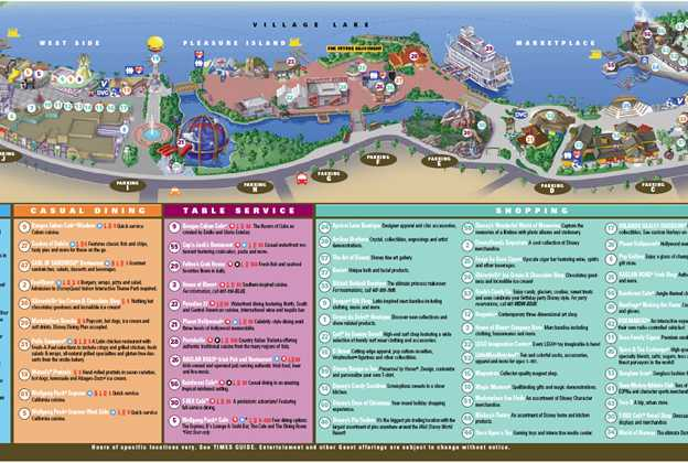 New Downtown Disney guide map
